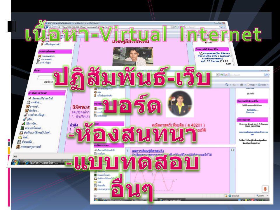 เนื้อหา-Virtual Internet ปฏิสัมพันธ์-เว็บบอร์ด