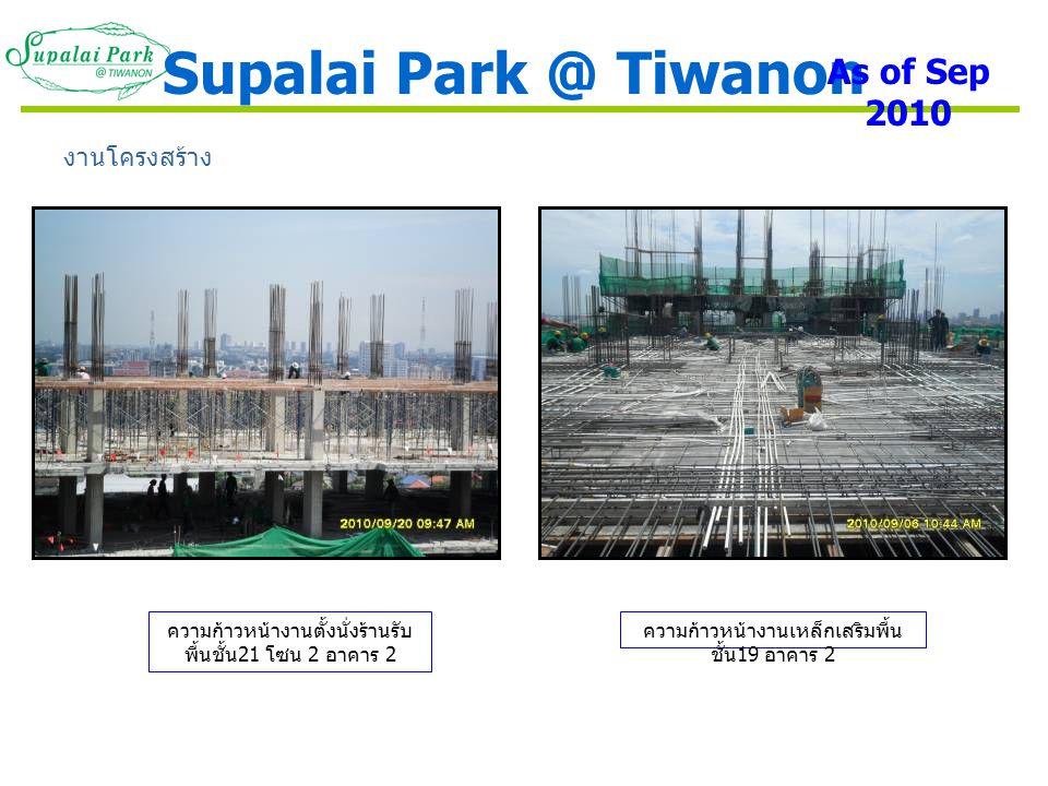 Supalai Park @ Tiwanon As of Sep 2010 งานโครงสร้าง