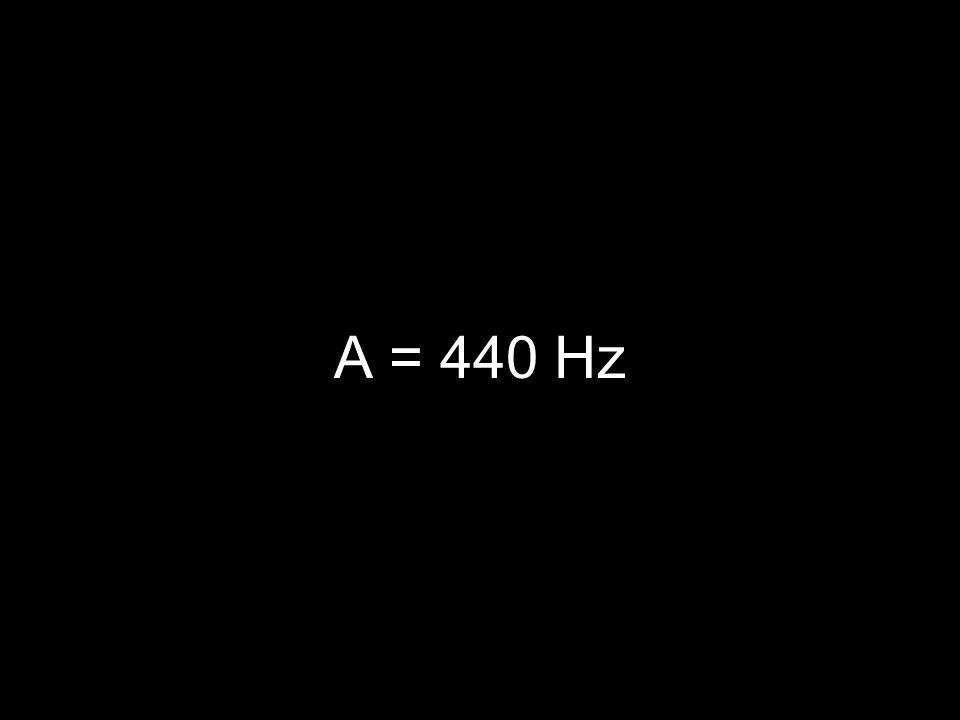 A = 440 Hz