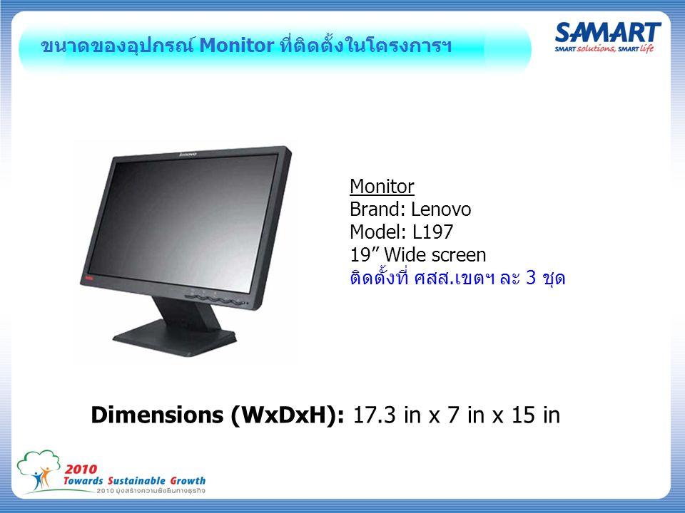 Dimensions (WxDxH): 17.3 in x 7 in x 15 in