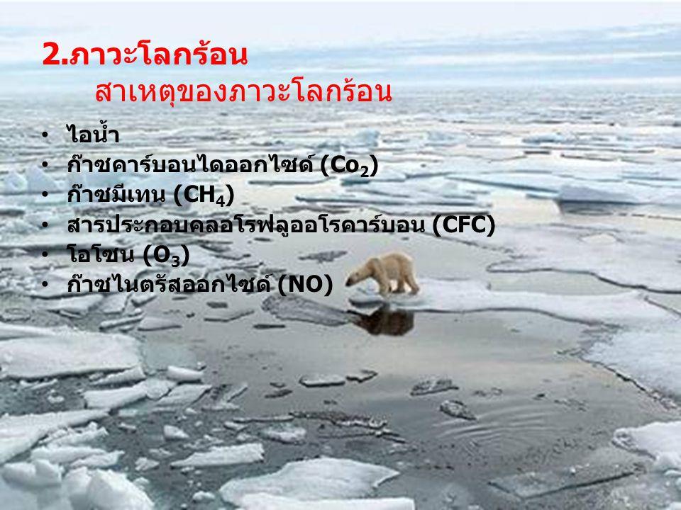 2.ภาวะโลกร้อน สาเหตุของภาวะโลกร้อน