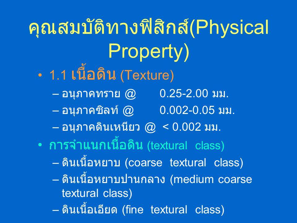 คุณสมบัติทางฟิสิกส์(Physical Property)