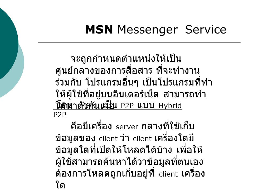 MSN Messenger Service