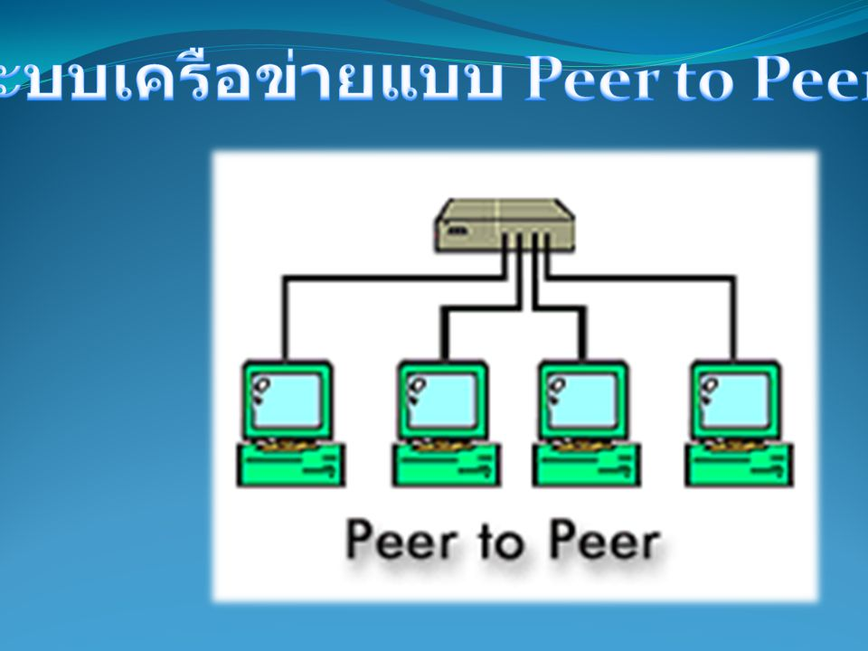 ระบบเครือข่ายแบบ Peer to Peer