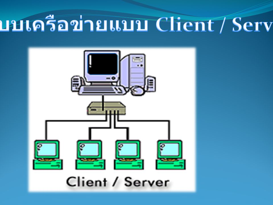 ระบบเครือข่ายแบบ Client / Server