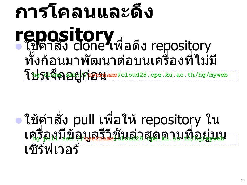 การโคลนและดึง repository
