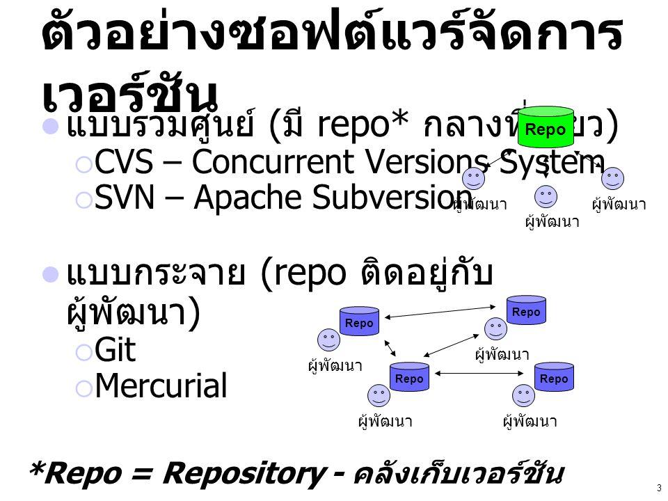 ตัวอย่างซอฟต์แวร์จัดการเวอร์ชัน