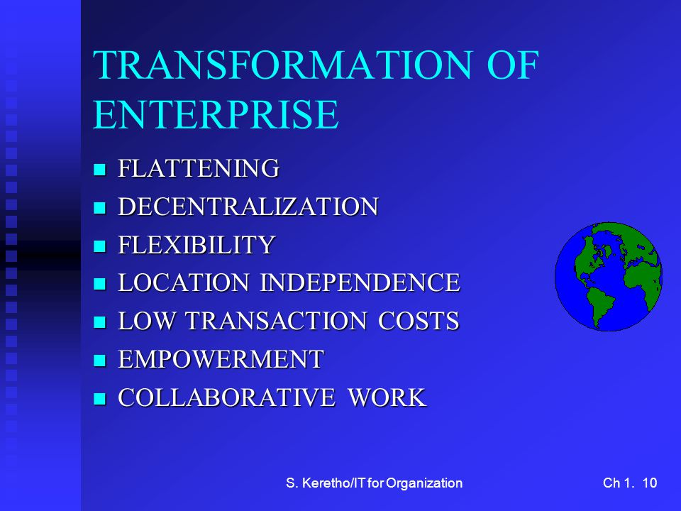 TRANSFORMATION OF ENTERPRISE
