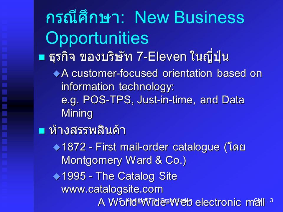 กรณีศึกษา: New Business Opportunities