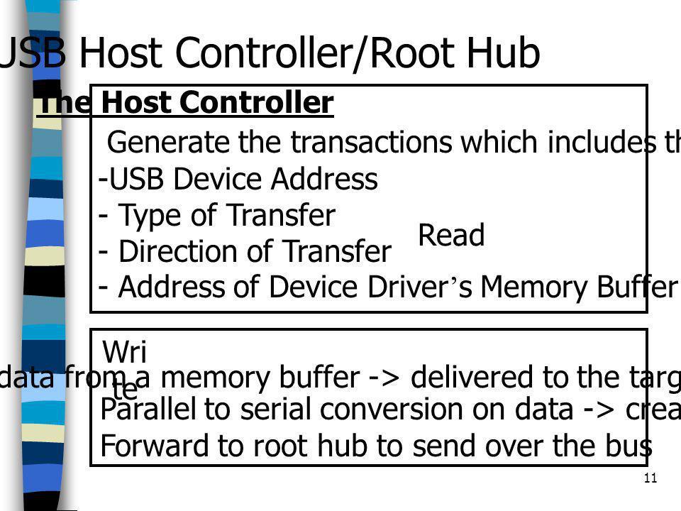 USB Host Controller/Root Hub
