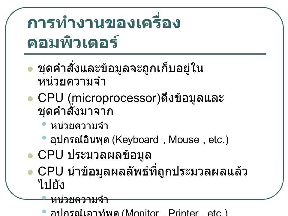 การทำงานของเครื่องคอมพิวเตอร์