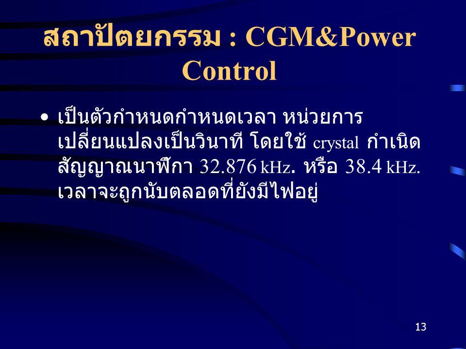 สถาปัตยกรรม : CGM&Power Control
