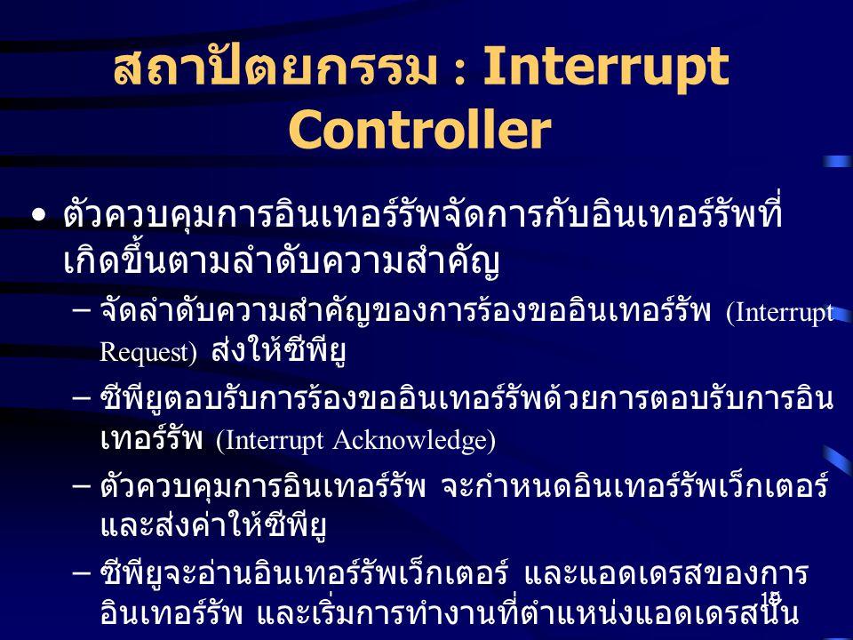 สถาปัตยกรรม : Interrupt Controller