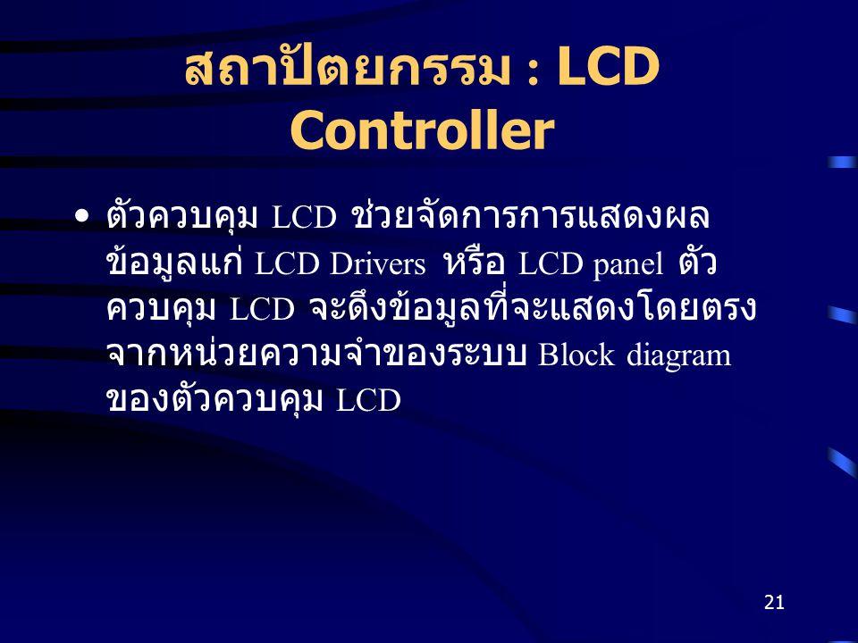 สถาปัตยกรรม : LCD Controller