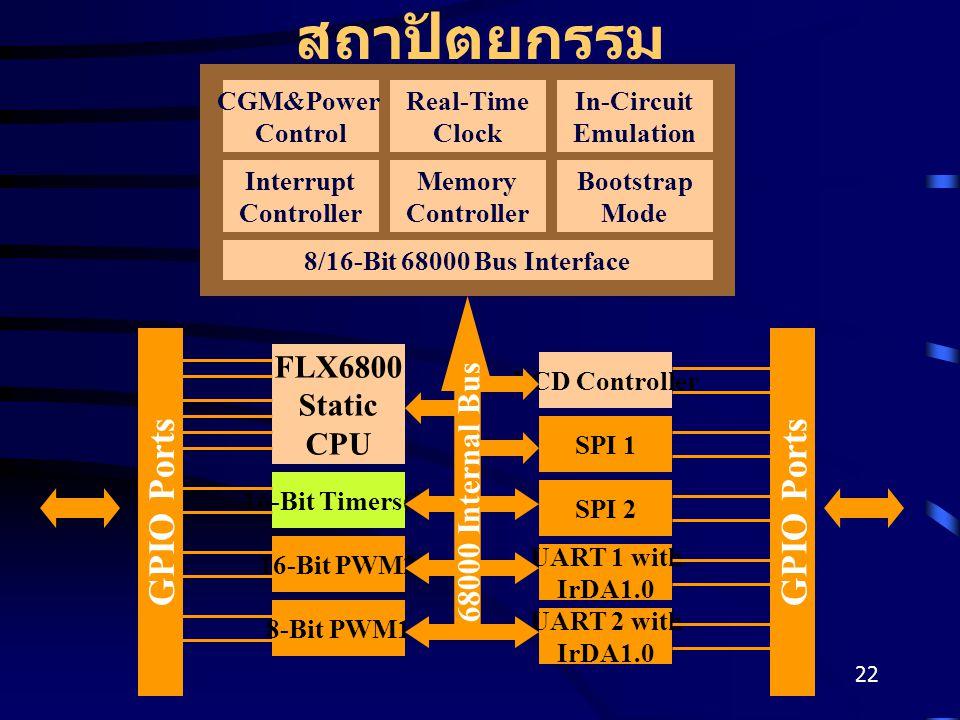สถาปัตยกรรม GPIO Ports GPIO Ports FLX6800 Static CPU