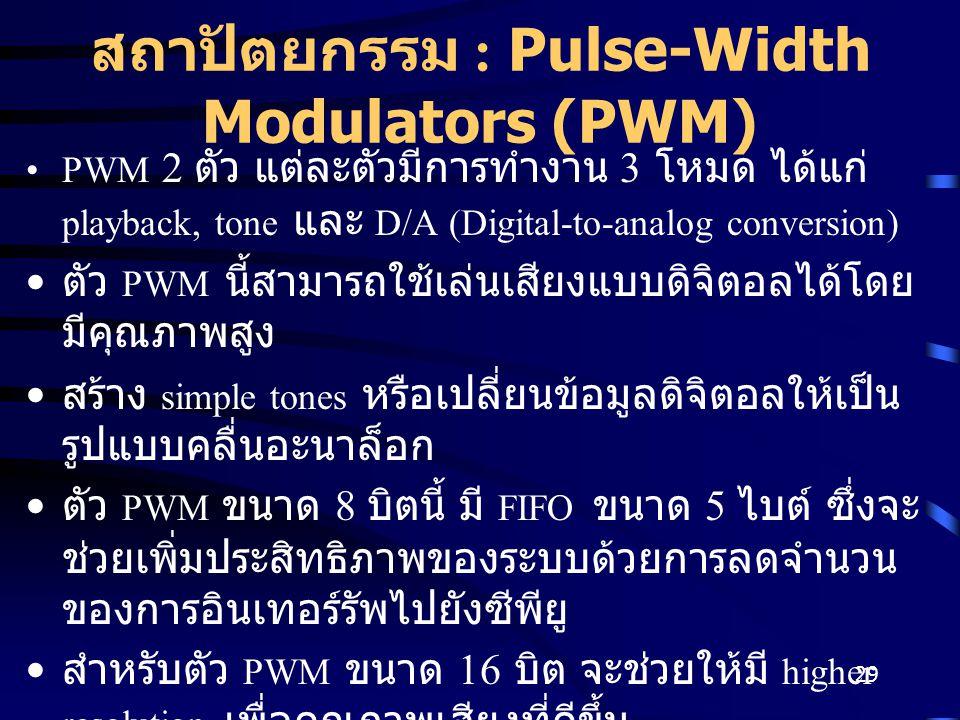 สถาปัตยกรรม : Pulse-Width Modulators (PWM)