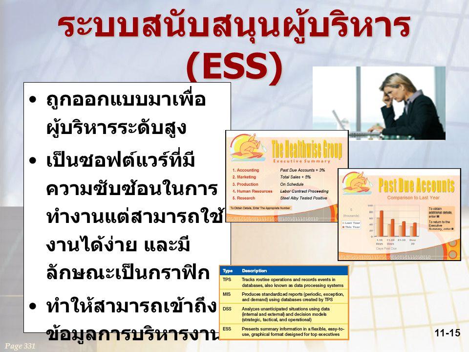 ระบบสนับสนุนผู้บริหาร (ESS)