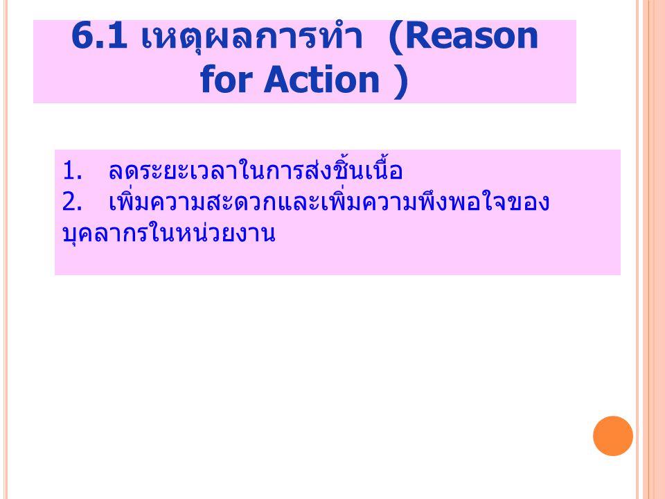 6.1 เหตุผลการทำ (Reason for Action )