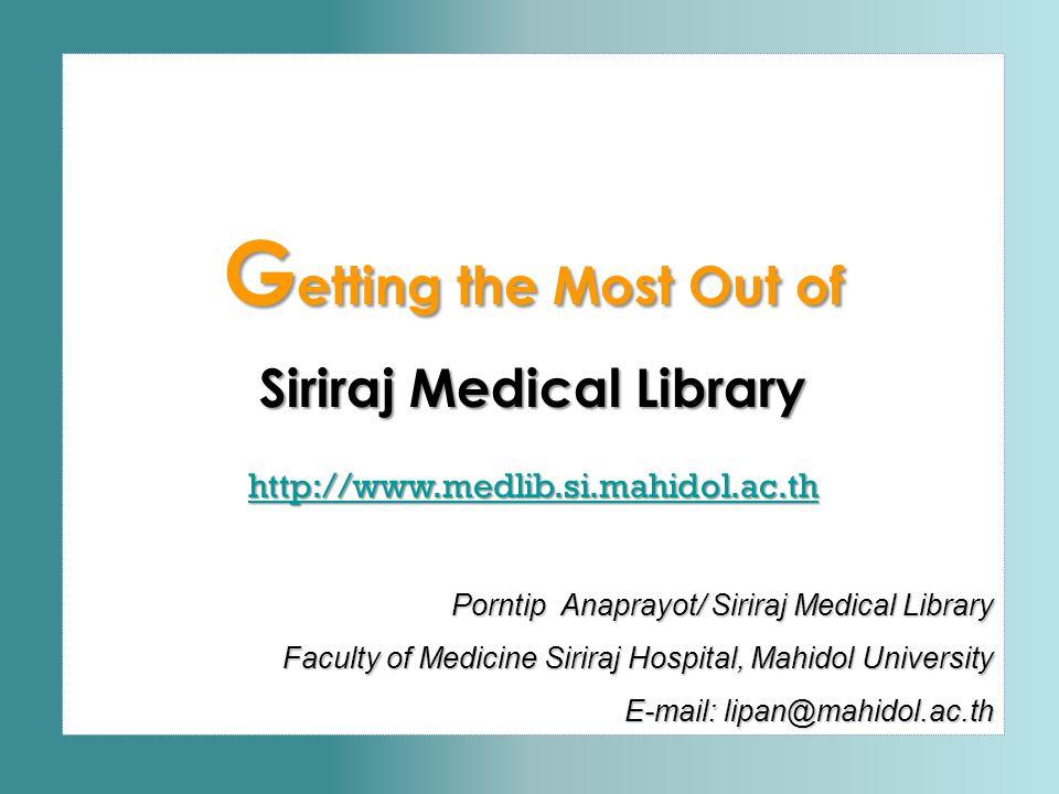 Siriraj Medical Library