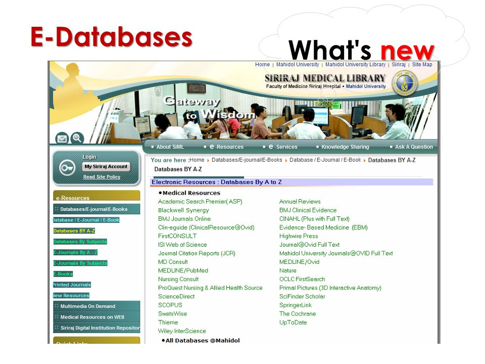 What s new E-Databases