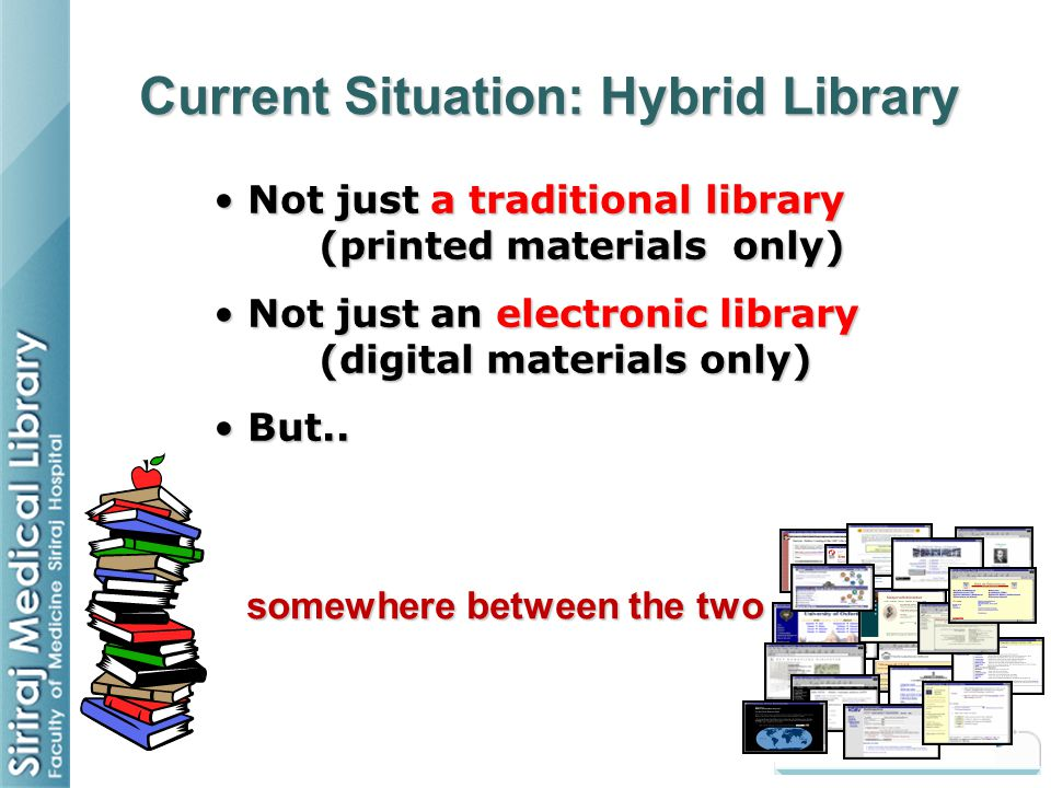Current Situation: Hybrid Library