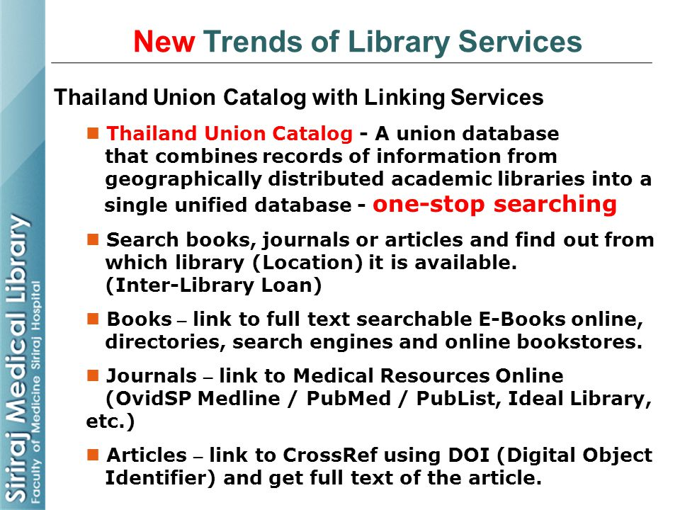 New Trends of Library Services