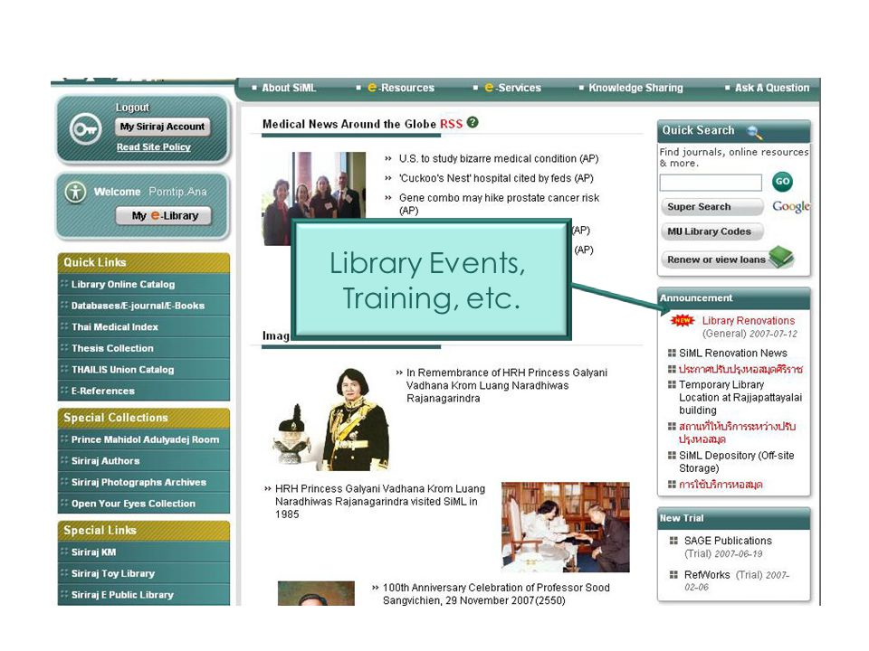 Library Events, Training, etc. Quick Links 50