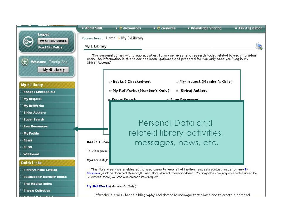 related library activities,