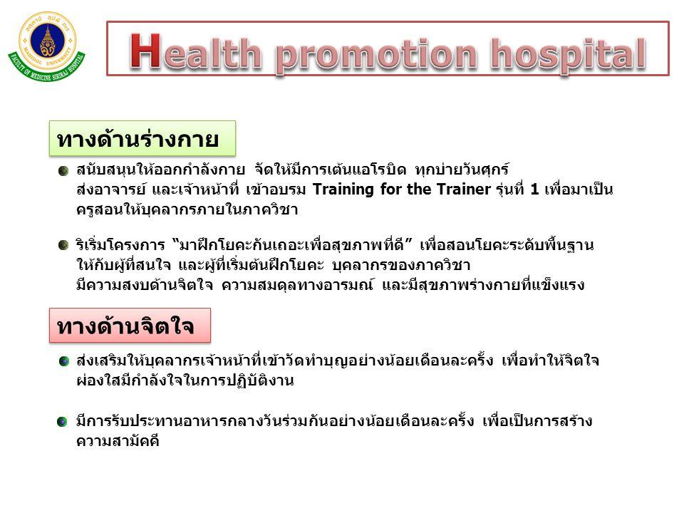Health promotion hospital