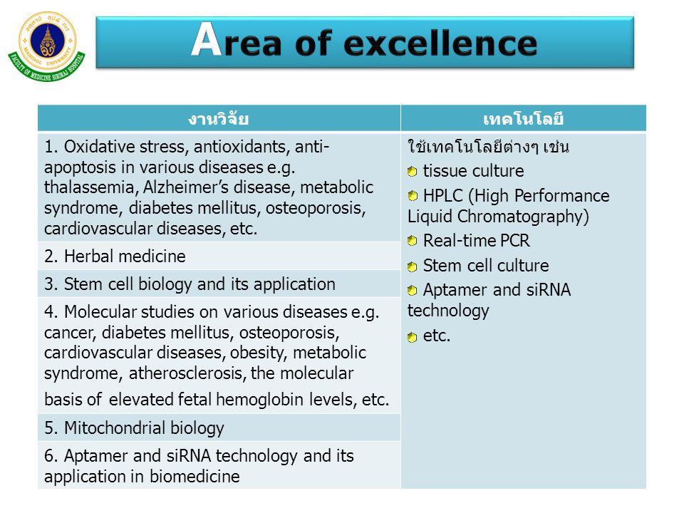 Area of excellence งานวิจัย เทคโนโลยี