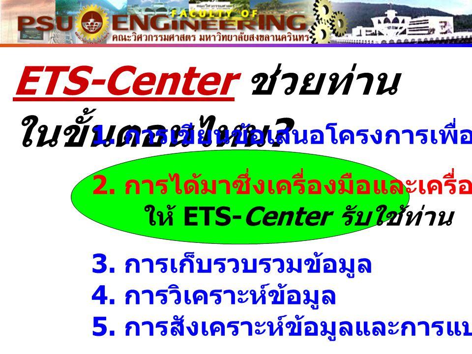 ETS-Center ช่วยท่านในขั้นตอนไหน