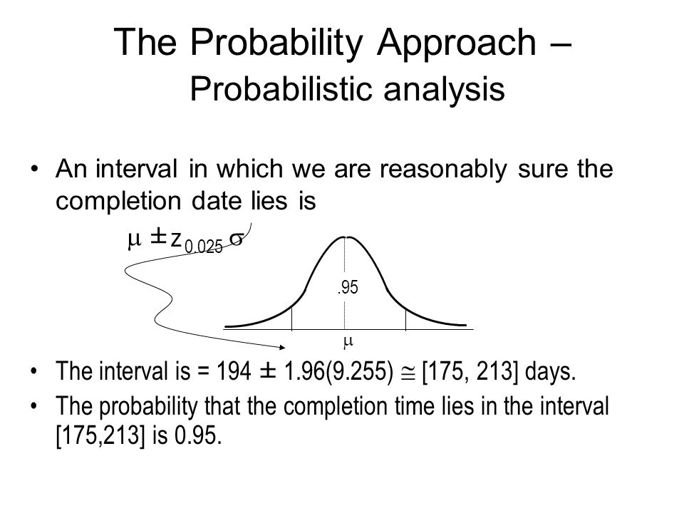 The Probability Approach – Probabilistic analysis