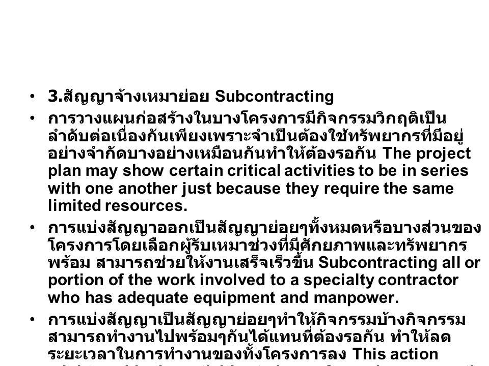 3.สัญญาจ้างเหมาย่อย Subcontracting
