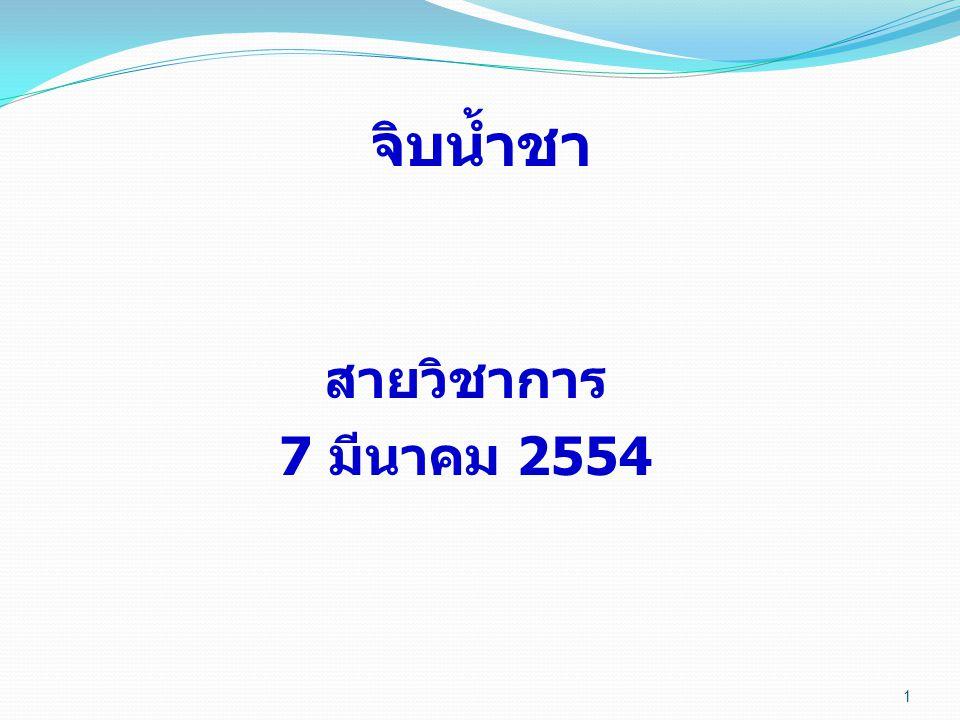 จิบน้ำชา สายวิชาการ 7 มีนาคม 2554