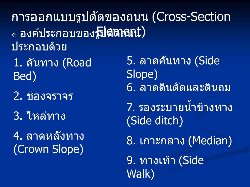 การออกแบบรูปตัดของถนน (Cross-Section Element)