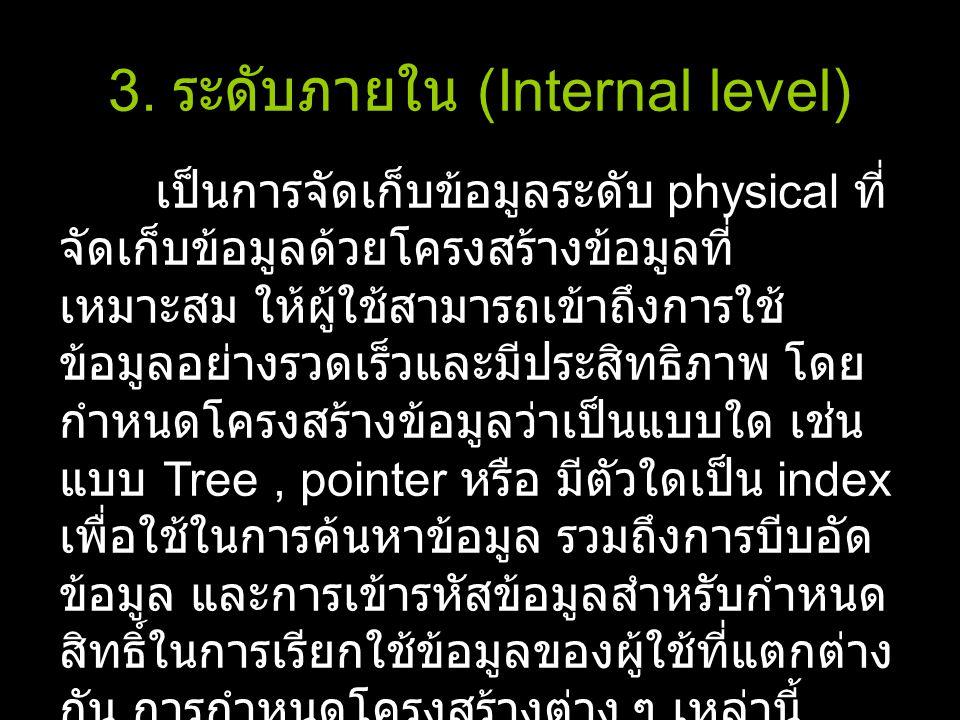 3. ระดับภายใน (Internal level)