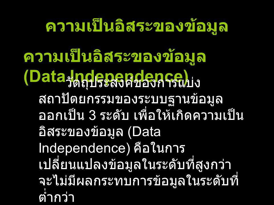 ความเป็นอิสระของข้อมูล