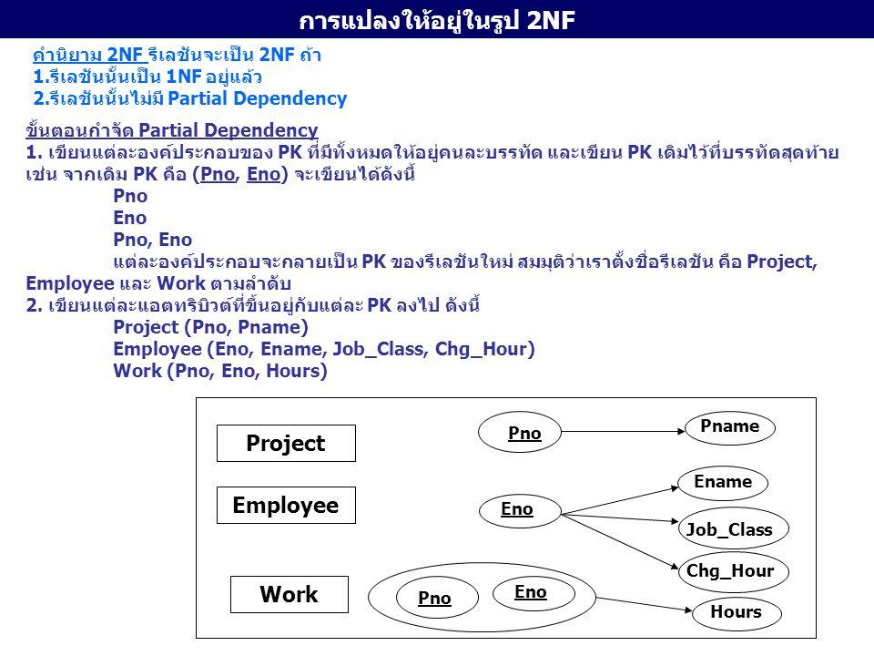 การแปลงให้อยู่ในรูป 2NF