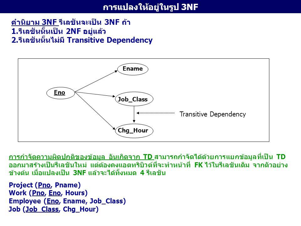 การแปลงให้อยู่ในรูป 3NF