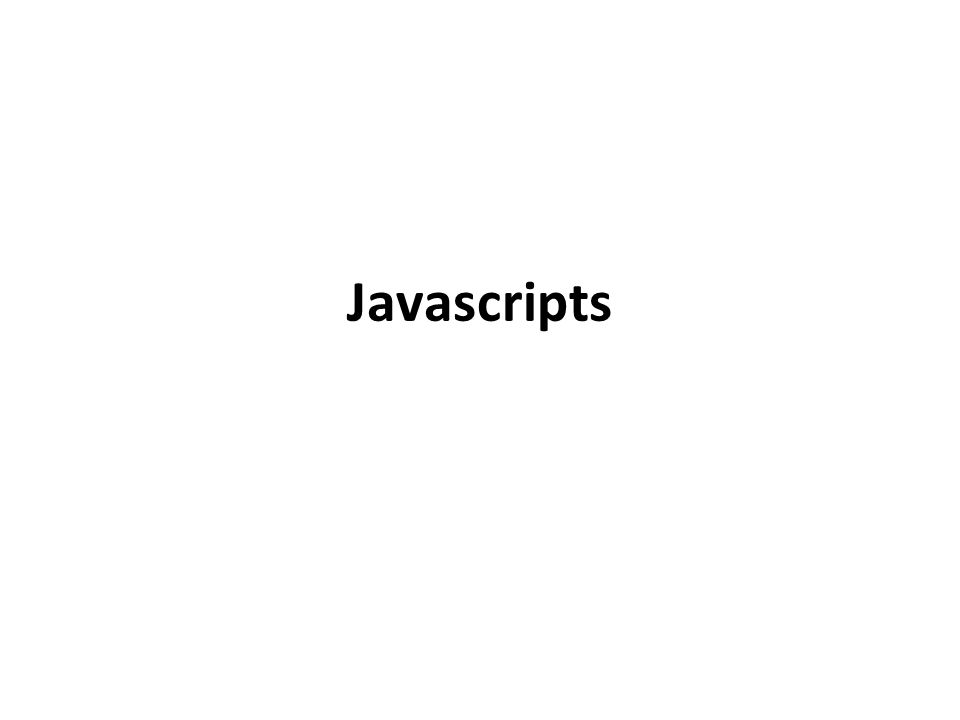 Javascripts