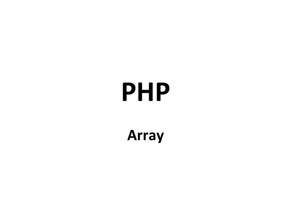 PHP Array