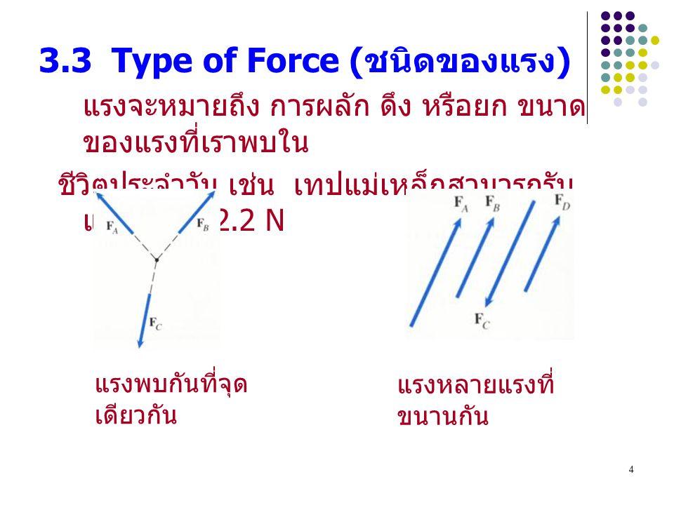 3.3 Type of Force (ชนิดของแรง)