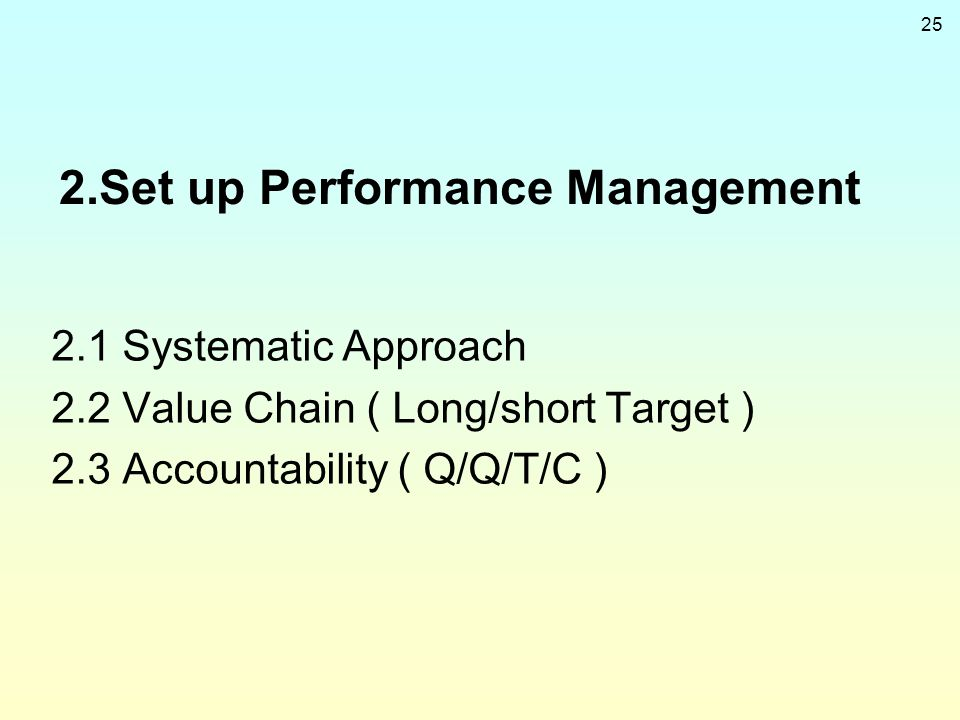 2.Set up Performance Management