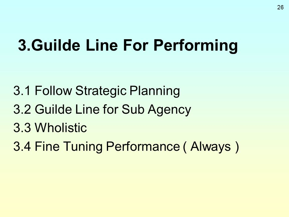 3.Guilde Line For Performing