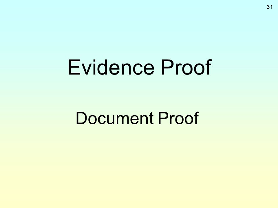 Evidence Proof Document Proof