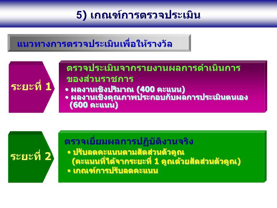 5) เกณฑ์การตรวจประเมิน