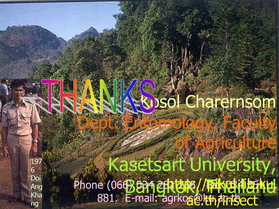 Phone (066) 034 281 265. Fax 034 351 881. E-mail: agrkoc@ku.ac.th