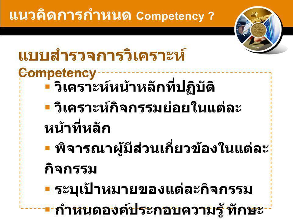 แบบสำรวจการวิเคราะห์ Competency