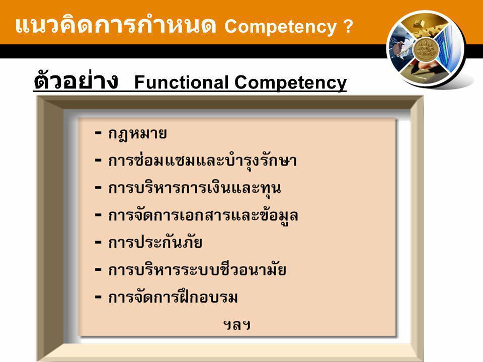แนวคิดการกำหนด Competency