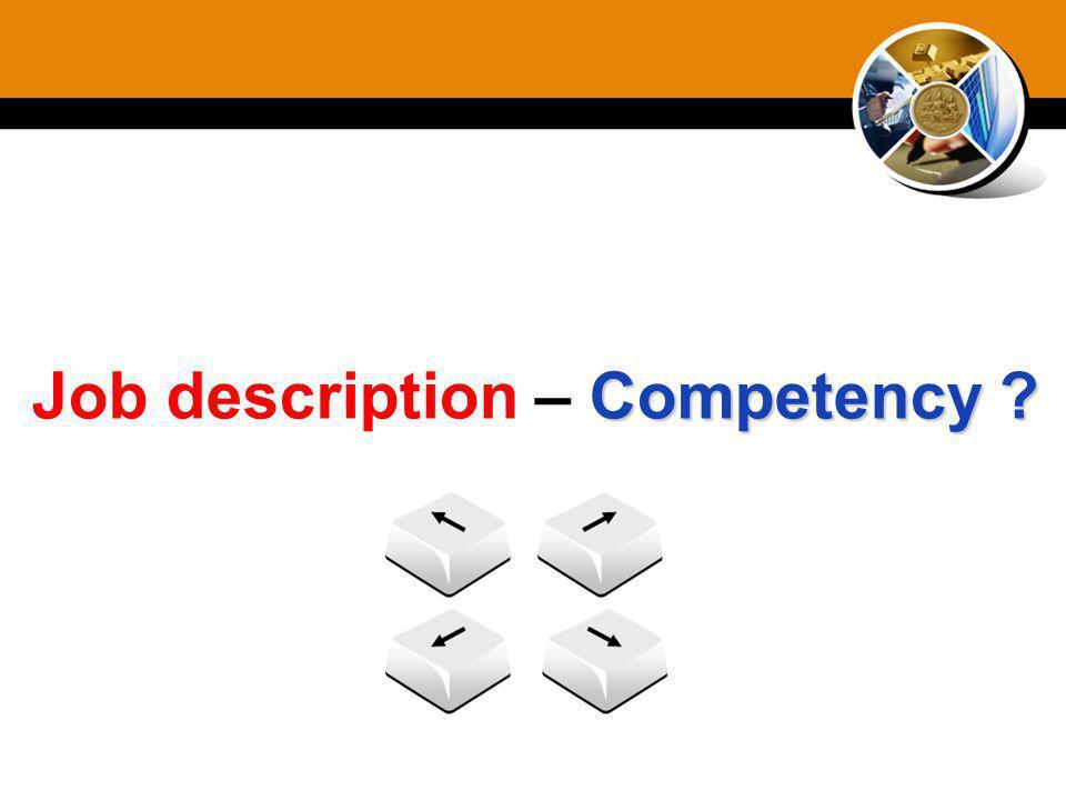 Job description – Competency